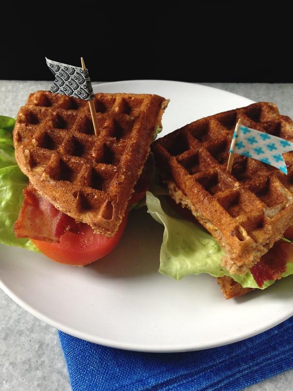10-Grain Waffle BLT Sandwich // feastandwest.com