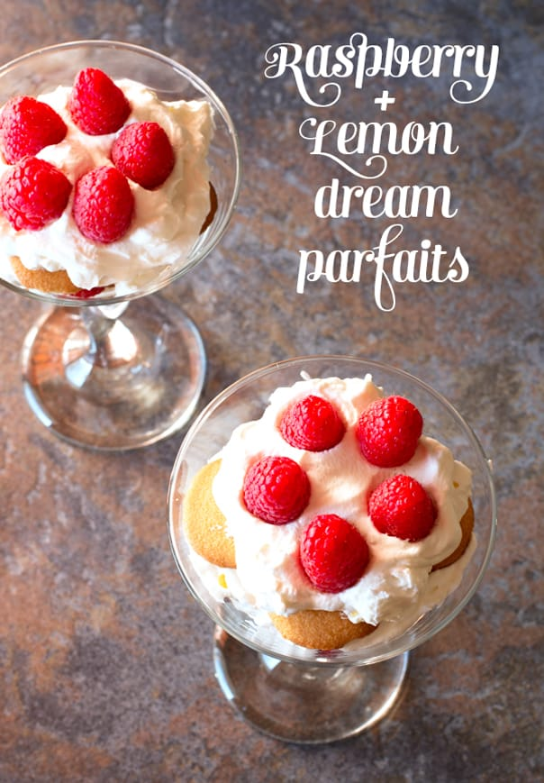 Raspberry + Lemon Dream Parfaits // Feast + West