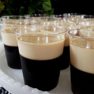 Baby Guinness Irish Coffee Jell-O Shots // Feast + West