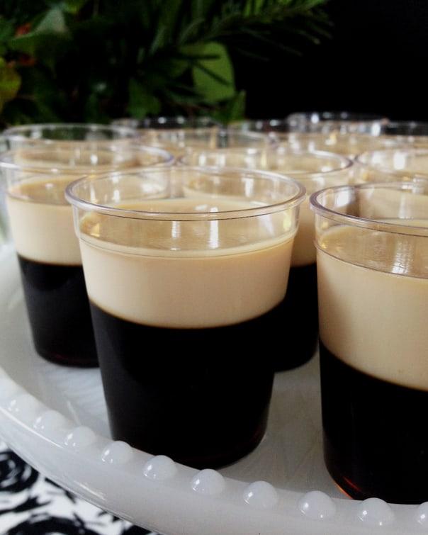 Baby Guinness Irish Coffee Jell-O Shots