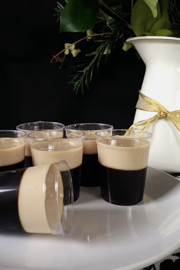 Baby Guinness Irish Coffee Jell-O Shots // Feast + West