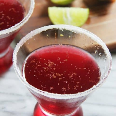 Pomegranate Wine Cocktail // Brunch with Joy for Feast + West