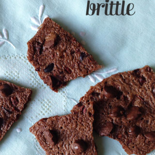 Dark Chocolate Brownie Brittle