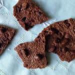 Dark Chocolate Brownie Crisps