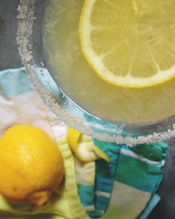 Meyer Lemon Drop Champagne Punch //  Feast + West