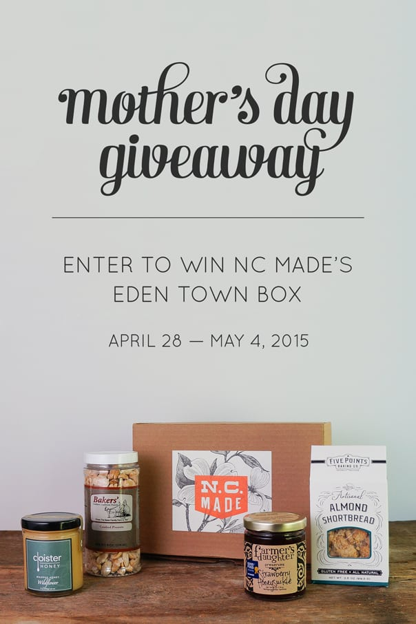 NC Made Mother's Day Giveaway on Feast + West