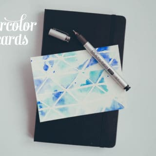 DIY Watercolor Postcards