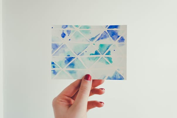 DIY Watercolor Postcards from Erika Gibson // Feast + West