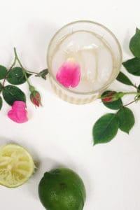 Elderflower Rose Gimlet, a refreshing floral cocktail // Feast + West