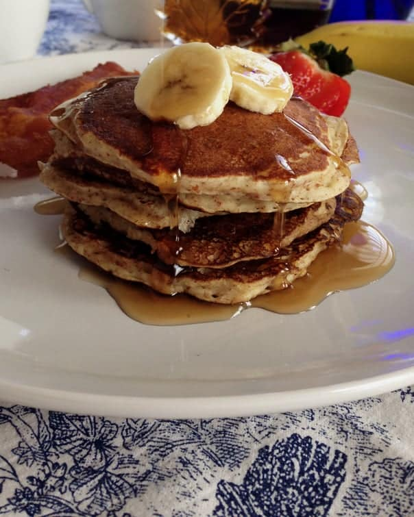 Gluten-Free Banana Pancakes // Feast + West