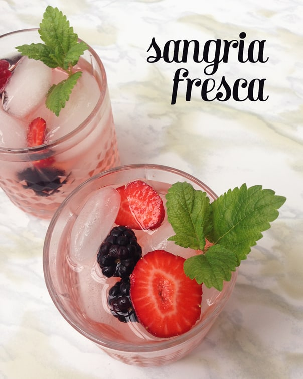 Sangria Fresca, the perfect pitcher drink for Cinco de Mayo and all summer long. // Feast + West