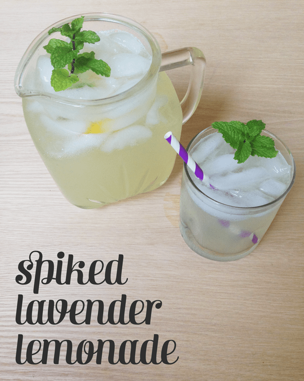 Spiked Lavender Lemonade, the perfect pitcher-drink for summertime // Feast + West