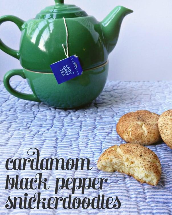 Cardamom Black Pepper Snickerdoodles // Feast + West