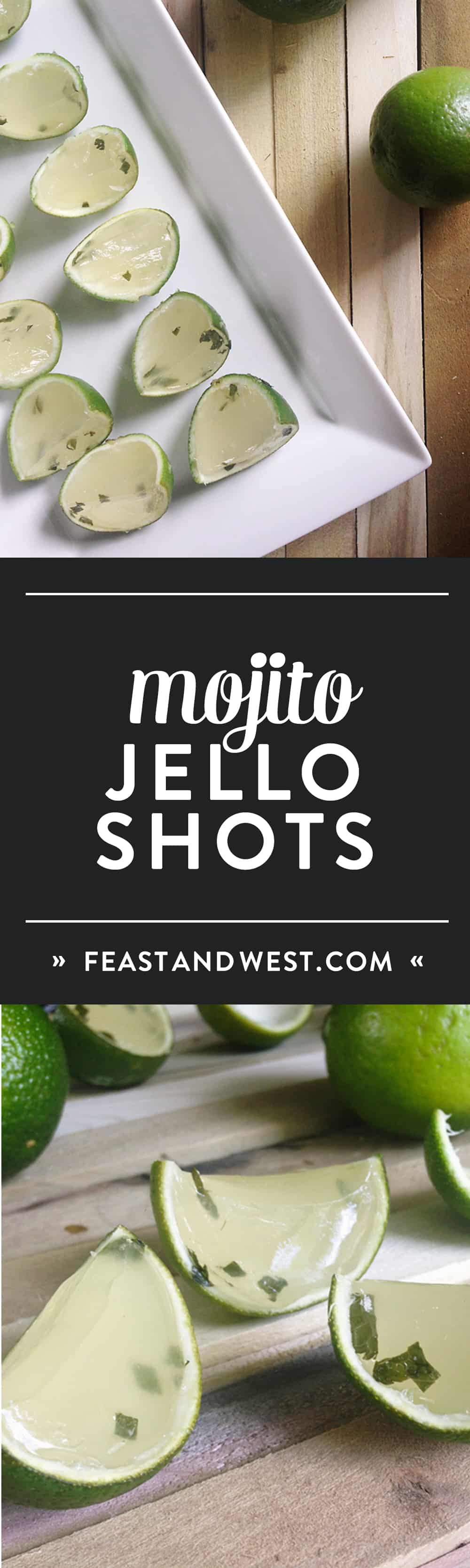 Mojito Jell-O Shots are the cutest way to enjoy the classic rum cocktail in bite-size form! Make a batch for a day by the pool or for a bachelorette party! Everyone will love them. (via feastandwest.com)