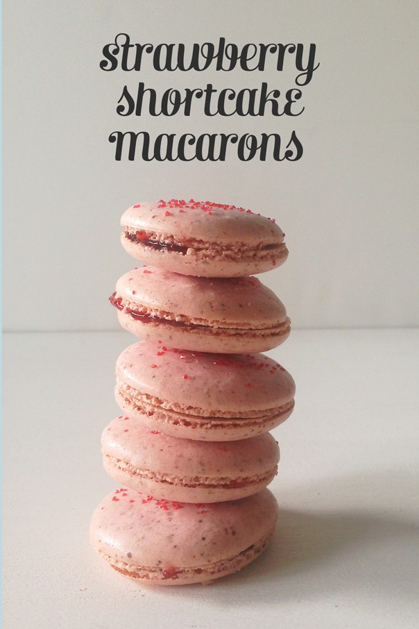 Strawberry Shortcake Macarons // Feast + West