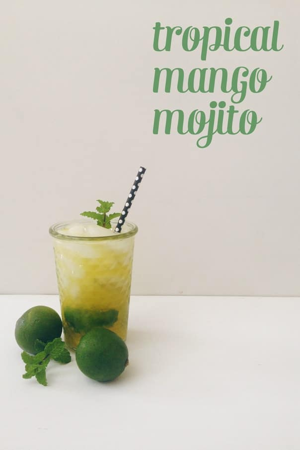 Cool down with a Tropical Mango Mojito this summer. // Feast + West