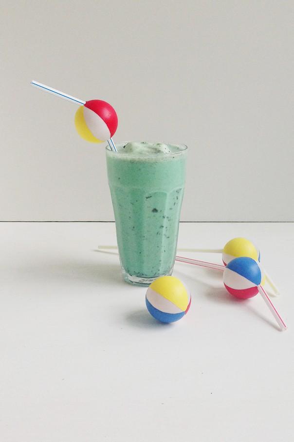 Boozy & Minty Poolside Milkshake // Feast + West