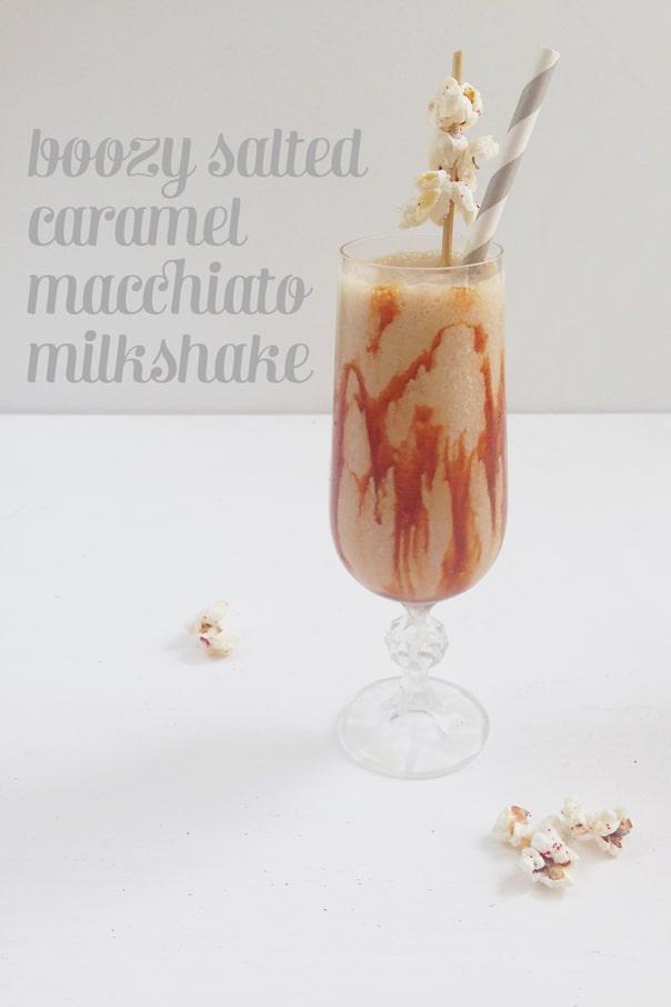 Boozy Salted Caramel Macchiato Milkshake // Feast + West