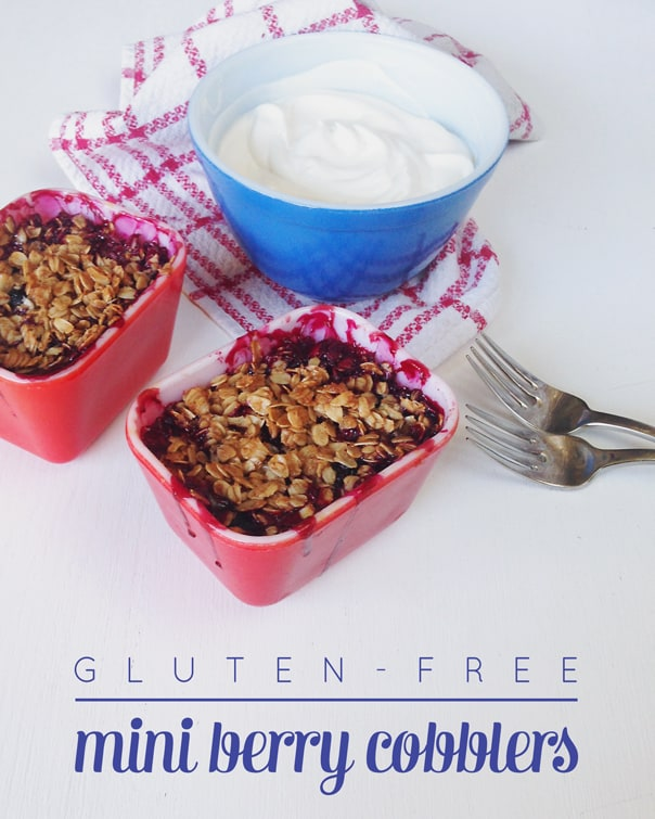 Gluten-Free Mini Berry Cobblers // Feast + West