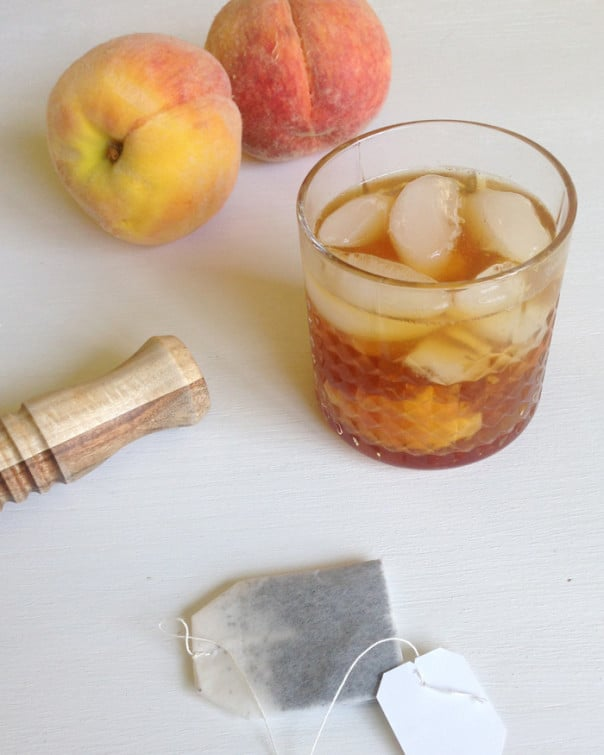 Peach Tea Old Fashioned // Feast + West