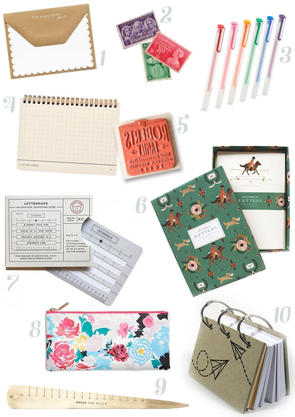 Pen pal essentials for letter-writing // Feast + West