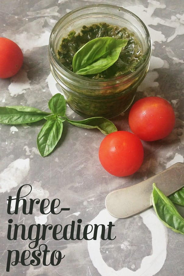 Three Ingredient Pesto // Feast + West