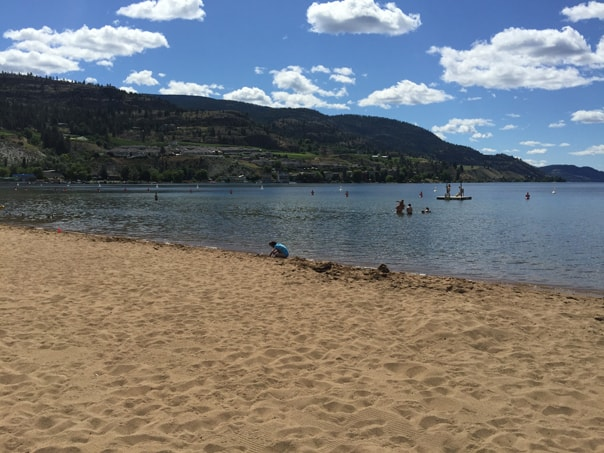 Skaha Lake Beach Park in Penticton