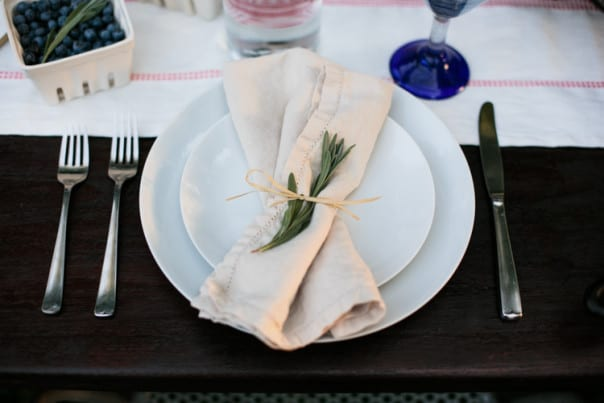 End-of-Summer Supper table setting // Feast + West