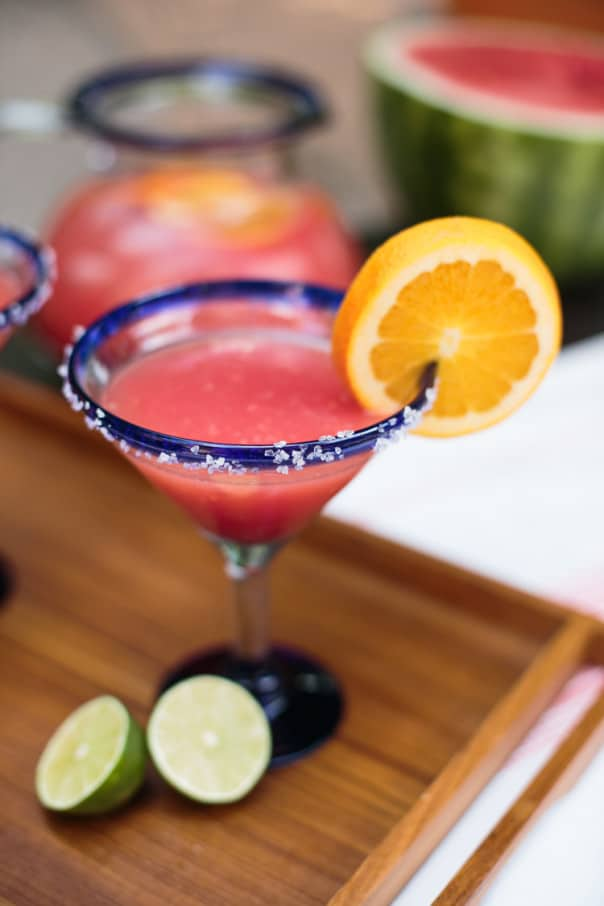 Watermelon Orange Margarita Punch // Feast + West