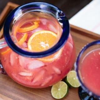 Summer Supper + Watermelon Orange Margarita Punch