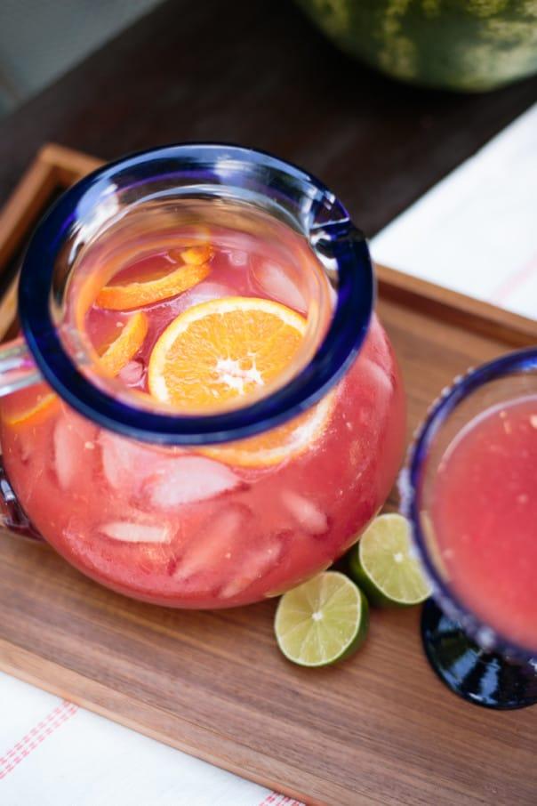 Watermelon Orange Margarita Punch