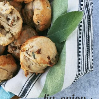 Fig, Onion + Honey Muffins