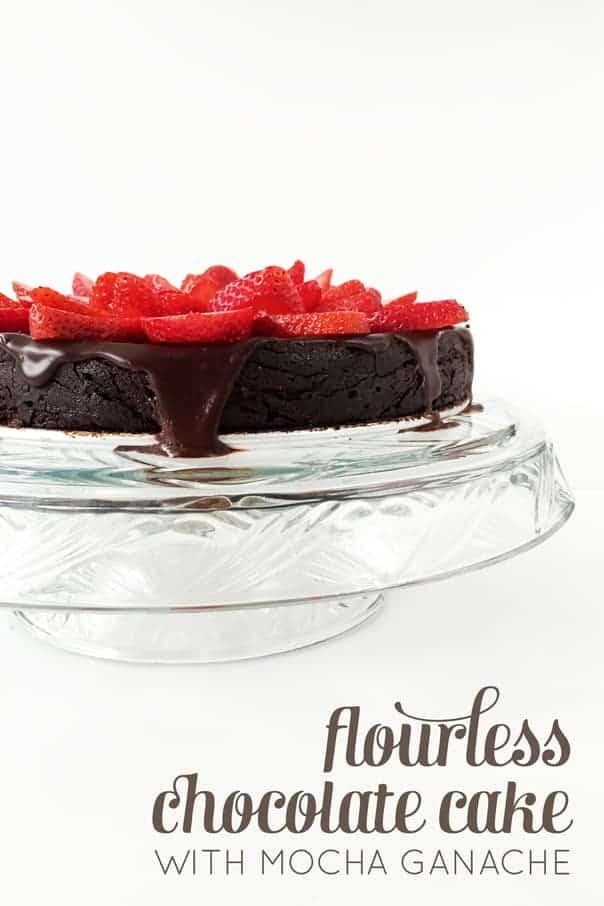 Flourless Chocolate Cake with Mocha Ganache is the best gluten-free birthday cake — so rich and chocolatey! // Feast + West