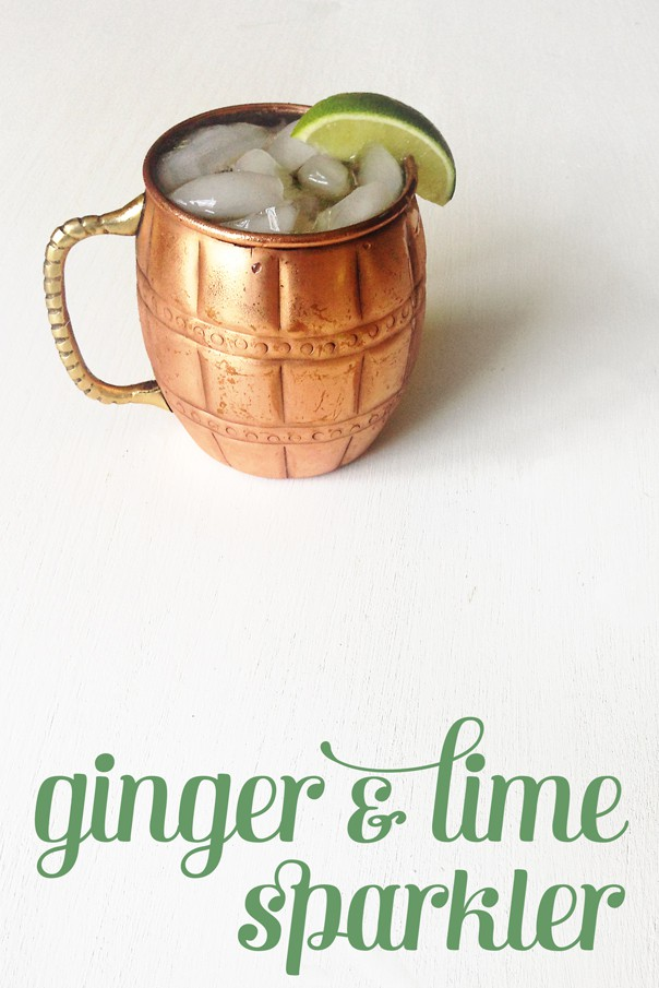 Lick up every last drop of summer with this Ginger & Lime Sparkler mocktail. // Feast