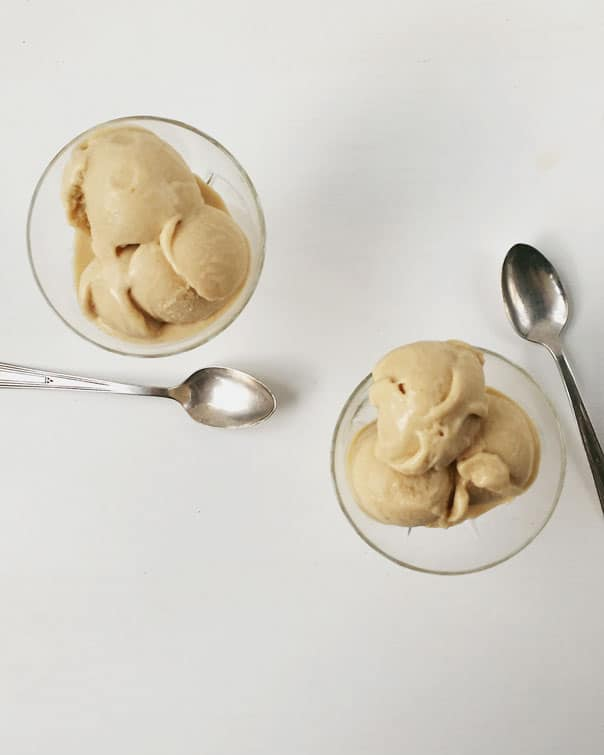 Salty Honey Peanut Butter Ice Cream — the perfect dessert version of the PB+Honey sandwich. // Feast + West