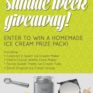 Salty Honey Peanut Butter Ice Cream + Giveaway