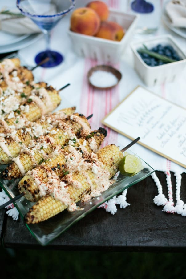 Grilled Mexican Corn on the Cob, perfect for a late summer al fresco supper. // Feast + West