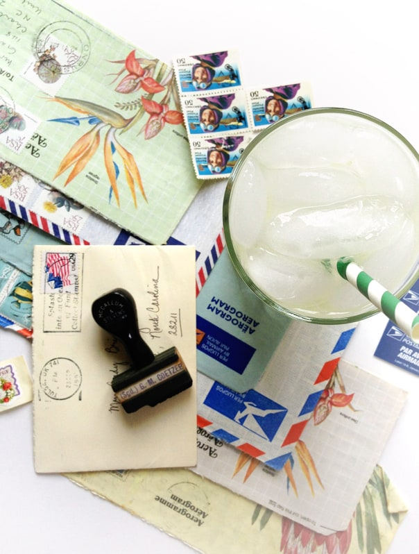 The Airmail Cocktail, a champagne and rum cocktail for pen pals and lovers of mail. // Feast + West