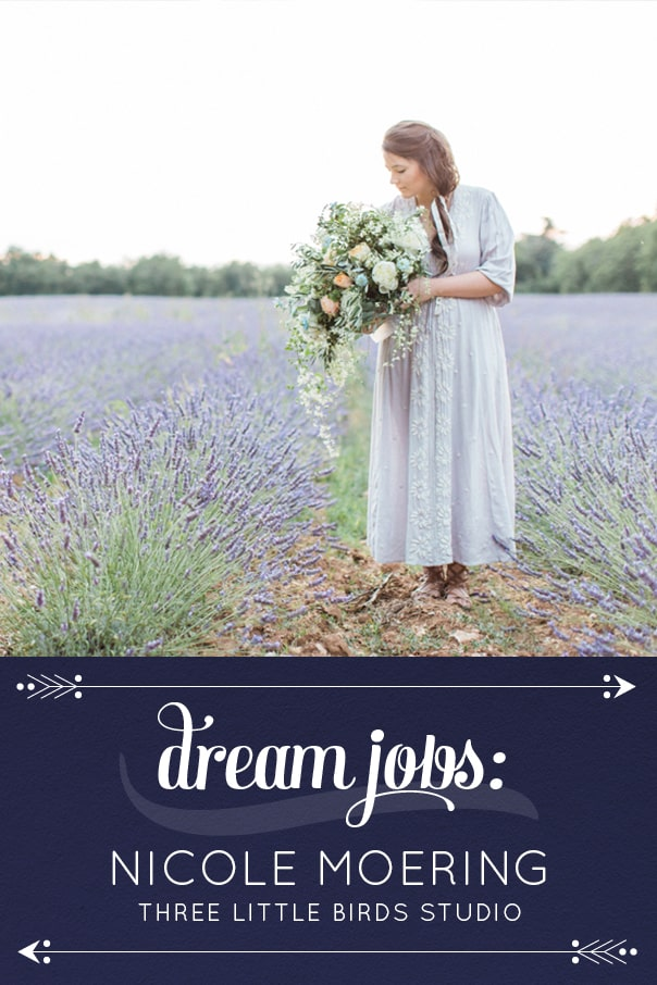 Dream Jobs: A Q&A with Nicole Moering of Three Little Birds Studio LLC, fine art wedding photographers. // Feast + West