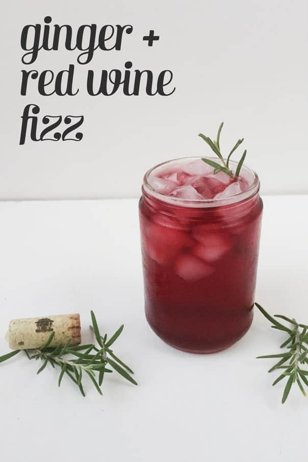 Ginger + Red Wine Fizz // Feast + West