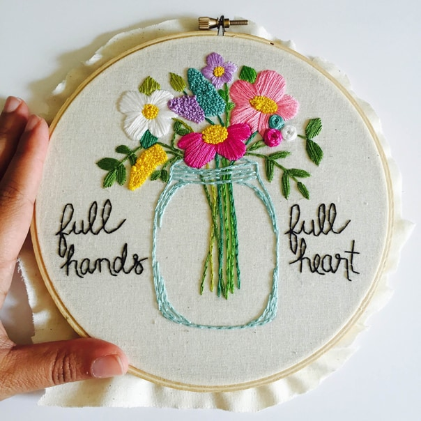 Dream Jobs: A Q&A with Kimber Casteel of KimArt, gorgeous embroidery for the home. // Feast + West