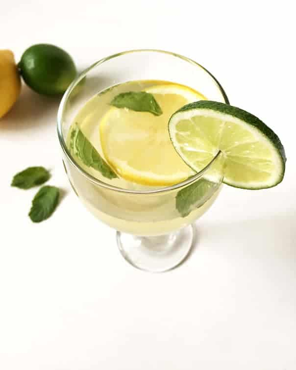 Lemon lime mint white wine sangria feast west