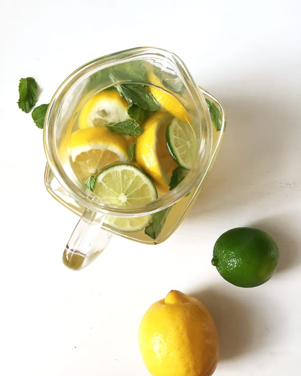 Lemon-Lime + Mint White Wine Sangria // Feast + West