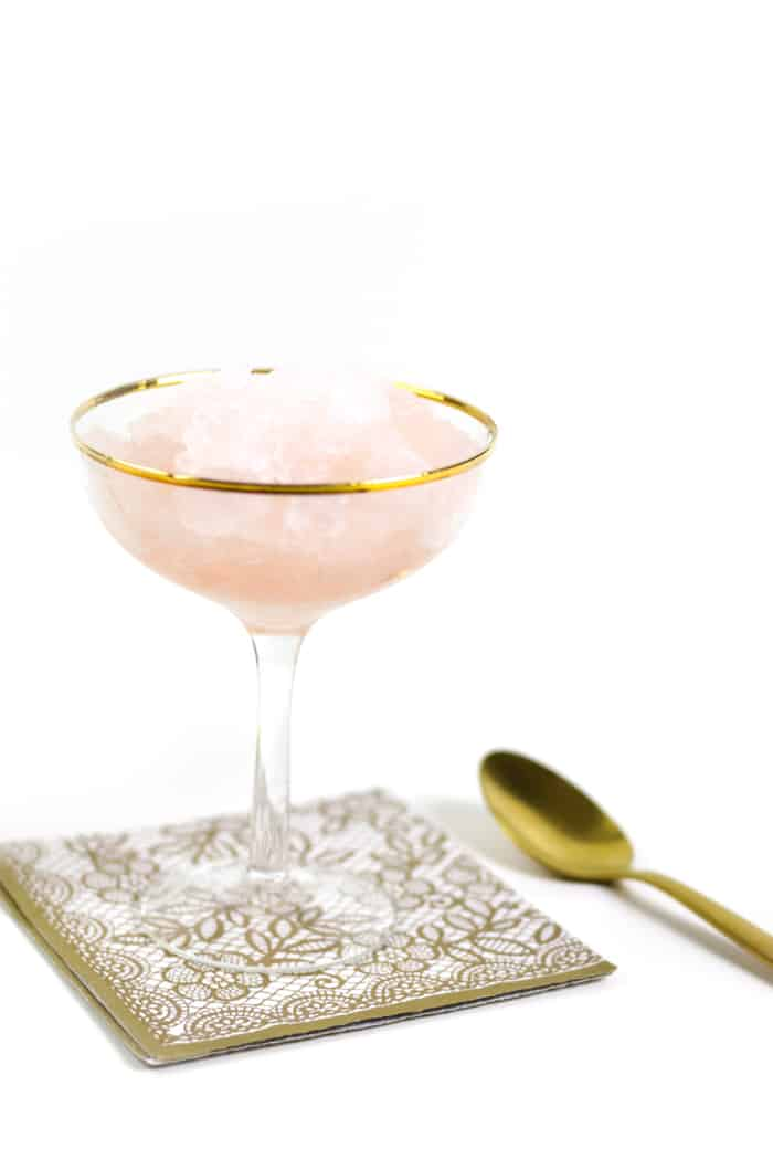Rosé Wine Granita is like a grown-up, alcoholic snow cone or slushy. This version of frosé is super simple and the perfect way to enjoy summer. (via feastandwest.com)