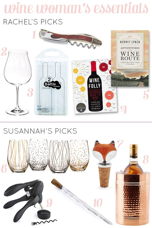 Wine Woman's Essentials — a gift guide for the wine-loving ladies. // Feast + West