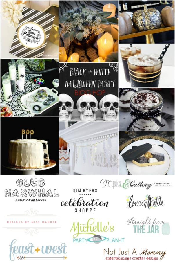 Black White Halloween Blog Hop // Feast + West