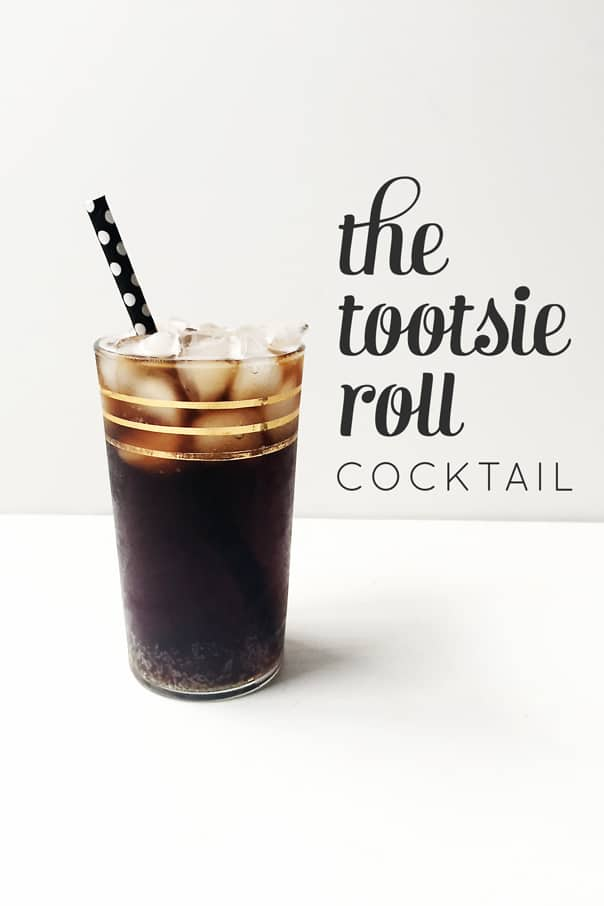 The Tootsie Roll Cocktail — a sophisticated candy cocktail for Halloween // Feast + West