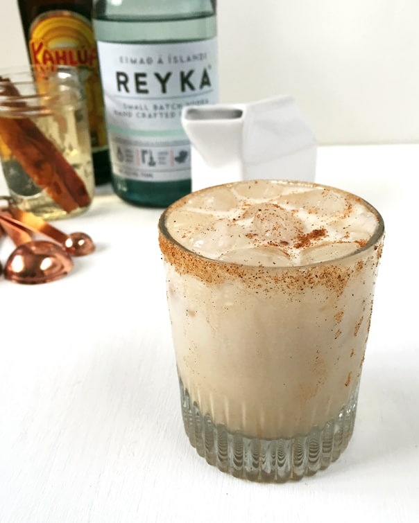 Cinnamon White Russian, the perfect holiday after-dinner cocktail. // Feast + West
