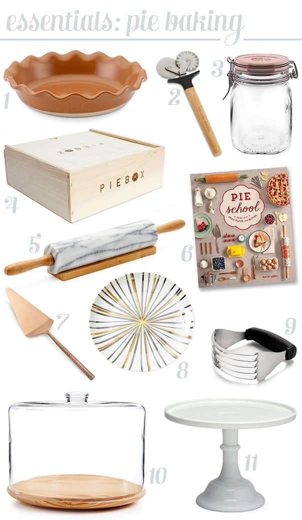 Pie-Making Essentials — everything you need to make pie for the holidays.   Feast + West