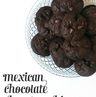 Mexican Chocolate Chocolate Chip Cookies + KitchenAid Mixer Giveaway!